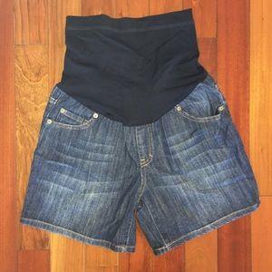Liz Lange Maternity Jean Shorts, Size Small (4-6)